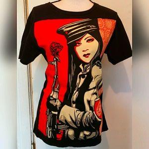 Obey Brand Shepard Fairey Street Artist T Shirt